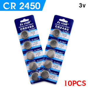 YCDC Promotion + 1lot=10pcs CR2450 button cell coin battery 2450 ECR2450 KCR2450 5029LC LM2450 lithium Battery ,Cosmosnewland(China)