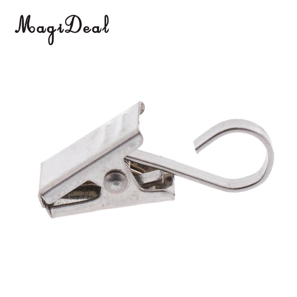 30-Pack Curtain Clips Hook Glider Peg Door Panel Hanger Clamp 35mm Silver