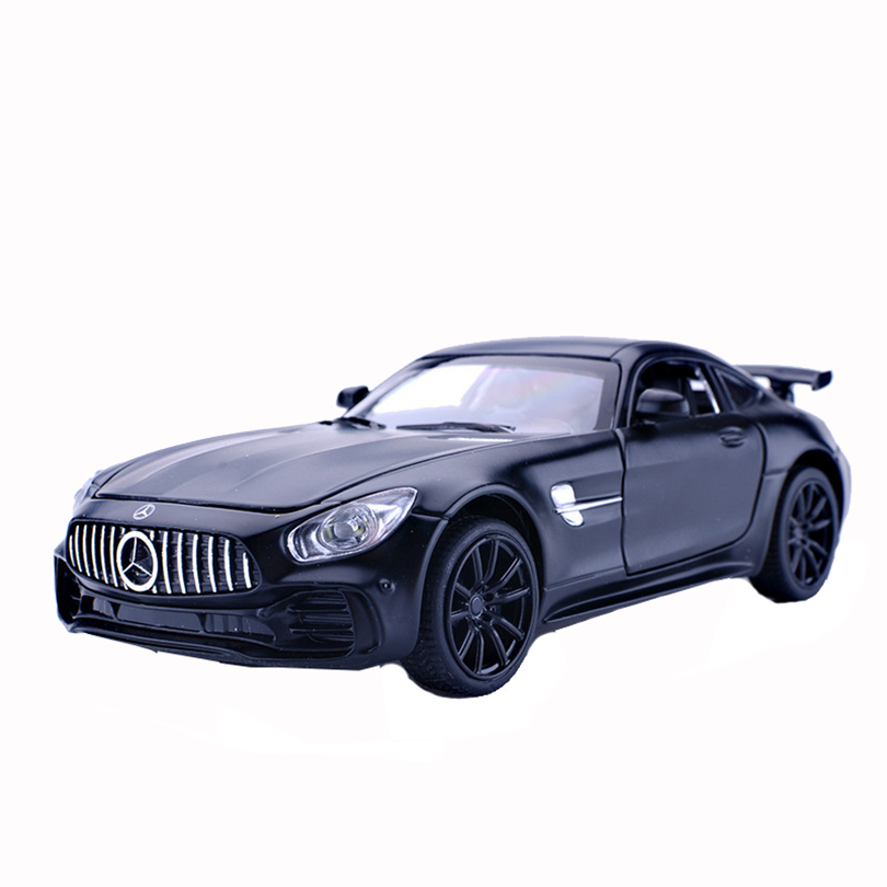 1:32 Benz AMG GT/SLS Toy Vehicles Model Alloy Pull Back Children Toys Genuine License Collection Gift Acousto-Optic Car Kids