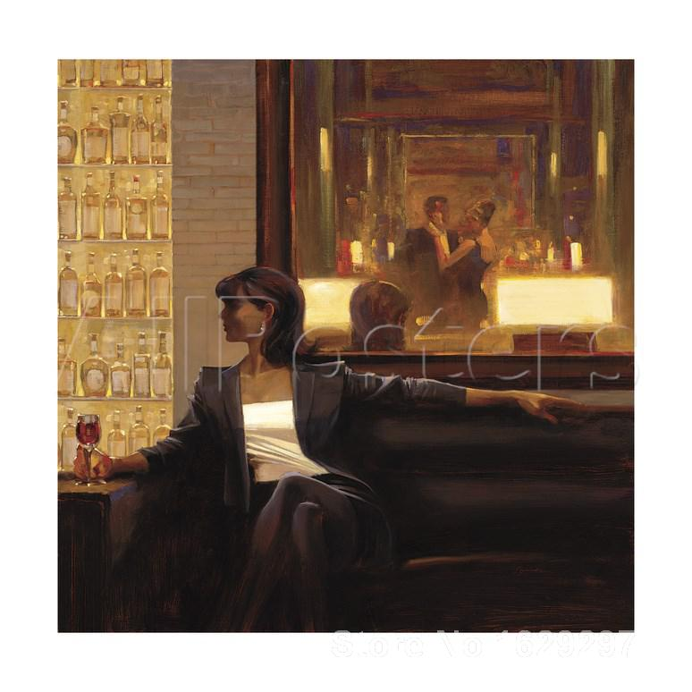 Amber Glow Woman Brent Lynch painting for bedroom decoration High qualityAmber Glow Woman Brent Lynch painting for bedroom decoration High quality