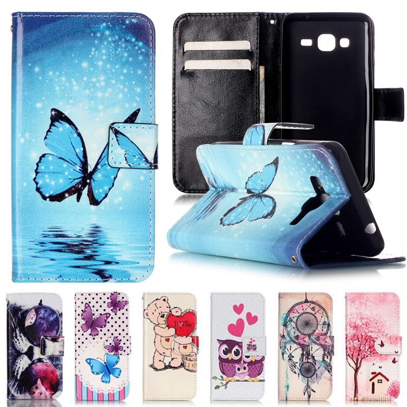 Galleria fotografica For Coque Samsung Galaxy J3 Case Leather Wallet Silicone Flip Cover Phone Cases For Fundas Samsung Galaxy J3 6 2016 Cover Case