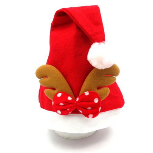 купить Christmas XMAS Party Santa Claus Reindeer Warm Hat Head Unisex Costume Cap онлайн