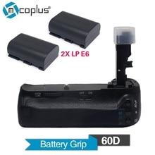 Mcoplus Venidice VD-60D Professional Vertical Battery Grip Holder with 2pcs LP-E6 Batteries for Canon EOS 60D Camera as BG-E9