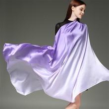 RUNMEIFA 2018 Summer Gradient Colours Silk Scarf For Women/Ladies New Fashion Long Shawls and Wraps Pashmina Female 190*110CM