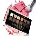 12 colores del maquillaje del color tierra exquisito brillo sombra de ojos paleta cosmética set nude sombra de ojos cosméticos