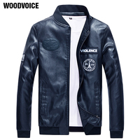 Hot Sales New PU Leather Jacket Men Black Red Brown BLUE Solid Mens Faux Fur Coats Trend Slim Fit Youth Motorcycle Suede Jacket