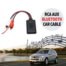 Универсальный Автомобильный bluetooth беспроводной адаптер подключения для стерео с 2 RCA AUX в музыкальном аудио вход беспроводной кабель для грузовика авто