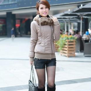 2013 winter new arrival korea style slim thick outerwear women's short warm cotton coat