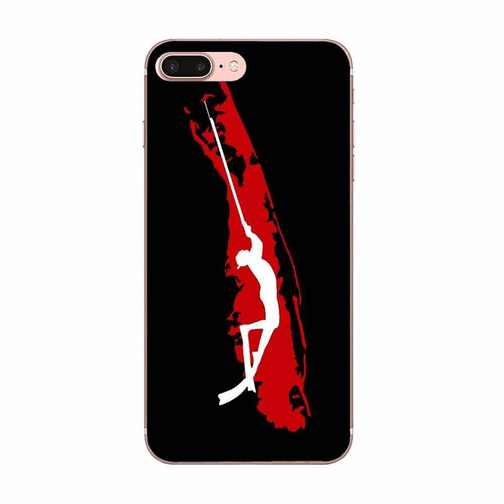 Dijual Ponsel Case untuk Samsung Galaxy Note 5 8 9 S3 S4 S5 S6 S7 S8 S9 S10 Mini edge Plus Lite Penyelam Bawah Scuba Bendera