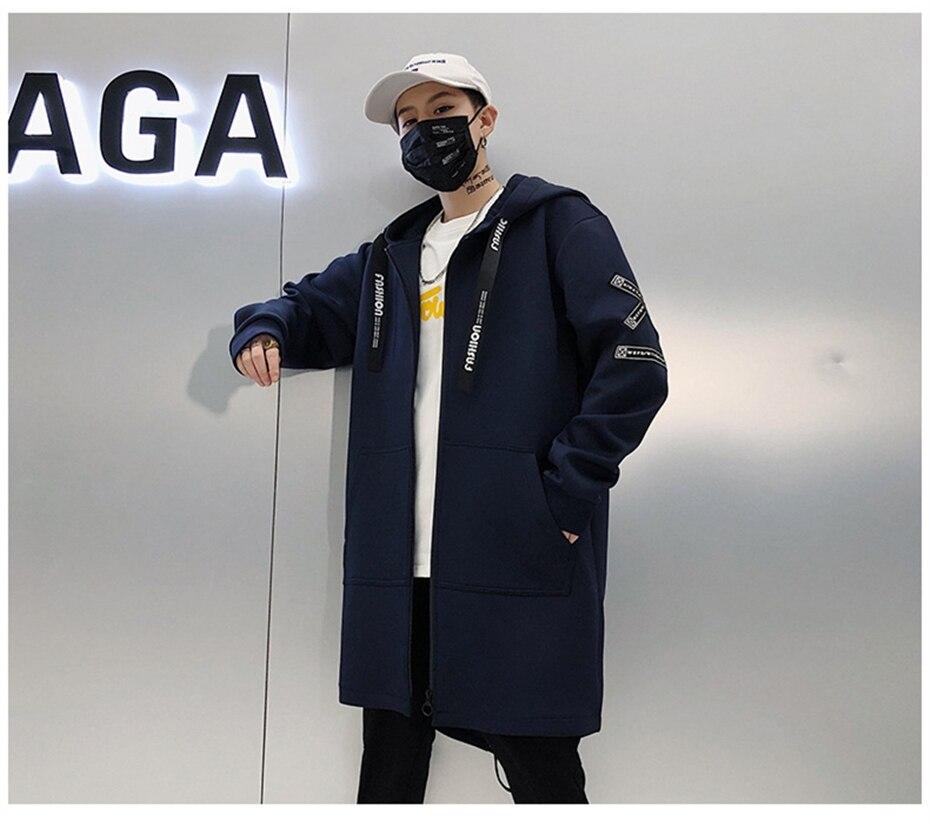 HTB14HEzK7voK1RjSZFwq6AiCFXaq Long Jacket Men Print Fashion 2019 Spring Harajuku Windbreaker Overcoat Male Casual Outwear Hip Hop Streetwear Coats WG198