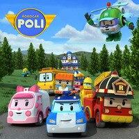 4 stks/set Robocar Poli Transformatie Robot Auto Speelgoed Korea Poli Robocar Anime Action Figure Speelgoed Voor Kids Gift