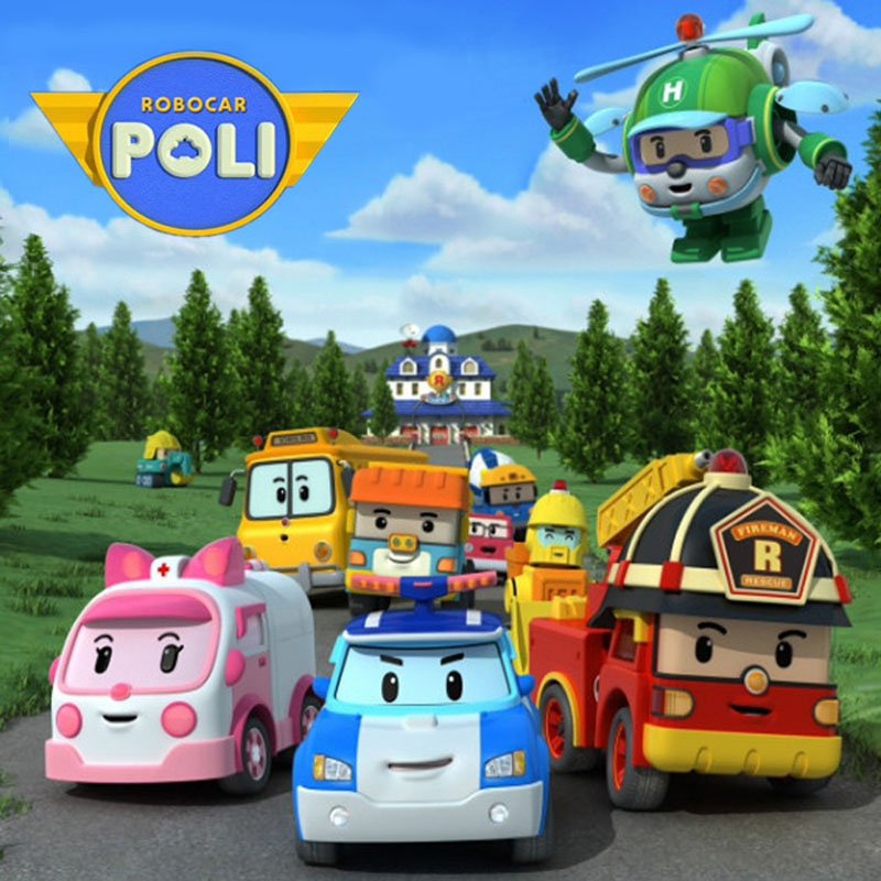 4pcs/Set Robocar Poli Transformation Robot Car Toy Korea  Poli Robocar Anime Action Figure Toys For Kids Gift dinosaur transformation plastic robot car action figure fighting vehicle with sound and led light toy model gifts for boy