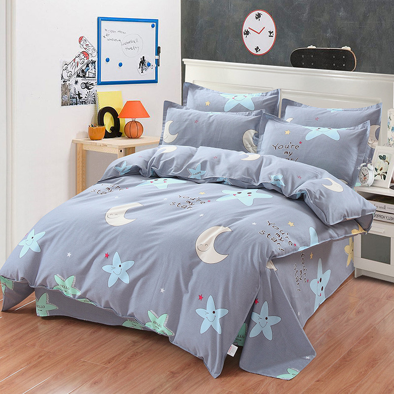 Star Moon beddding set Quilt cover Duvet Cover bed Sheet pillow cases bedclothes Best selling twin full king queen size