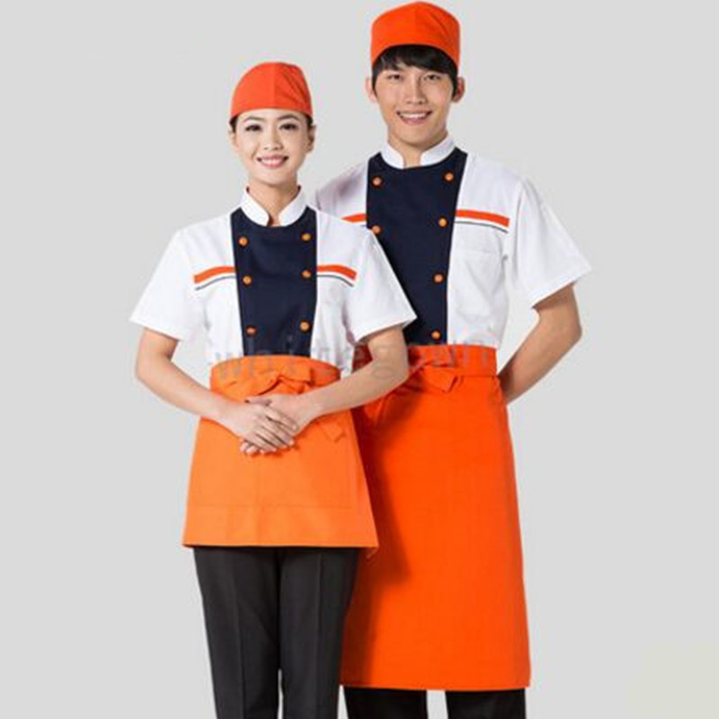 Summer Chinese Restaurant Waiter Uniforms Chinese Chef Uniforms Chef Clothing Chef Clothes Hotel Waiter Clothing