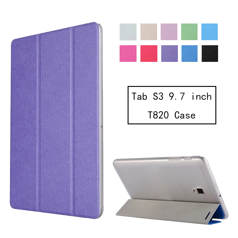 For Tab S3 9.7 SM T820 T825 Smart Cover Case, Slim Light Flip Folio Cover Stand Shell Case For Samsung Galaxy Tab S3 9.7