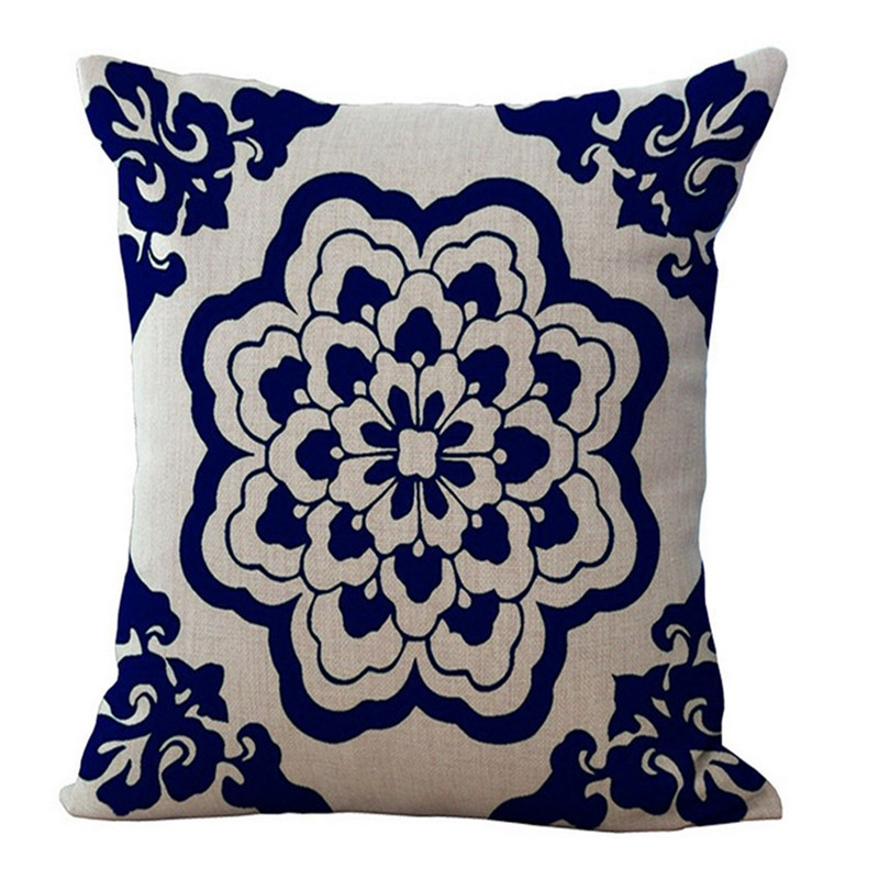 Cotton Linen Cushion Pillow Cover Bohemian Style Home Decorative Blend Cushions Chair Square Size 10 Patterns