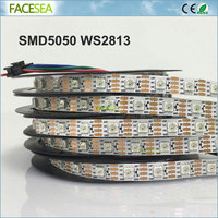 5m/roll smd 5050 ws2813 RGB Led pixel strips individually addressable 30 / 60pcs/m DC5V non waterproof IP30 ws2812b upgraded