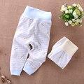 Calças Do Bebê Recém-nascido Calças de Cintura alta Primavera Casual Calças da Roupa Do Bebê Infantil Bebes Bebê Da Menina do Menino leggings de Algodão Elástico
