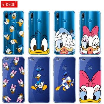 Funda de silicona para teléfono Huawei P20 P7 P8 P9 P10 Lite Plus Pro 2017 P Smart soft tpu Donald Duck funda protectora de dibujos animados