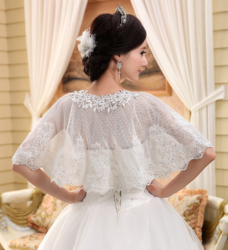New Lace Bridal Boleros Thin Sequins Sleeveless Women Las Wedding Jackets Plus Size Wraps For Party In Wrap From Weddings