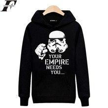 LUCKYFRIDAYF Ihre Reich Bedürfnisse sie in Star Wars Herren Langarm Hoodies Herren Hip Hop Hoodies und Sweatshirts Grau/schwarz 3xl