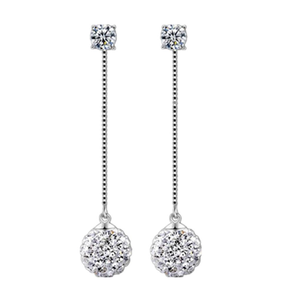 Márka ezüst fülbevaló Shambhala luxus cirkónium fülbevaló női - Divatékszer - Fénykép 6