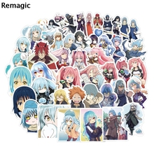 50pcs That Time I Got Reincarnated as a Slime 90s letter anime paster gift cosplay decal scrapbooking diy sticker phone laptop