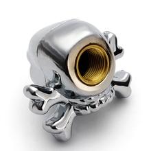 4 шт. череп тележки автомобиля велосипед шины воздушный Клапан стволовых Caps череп колеса Диски