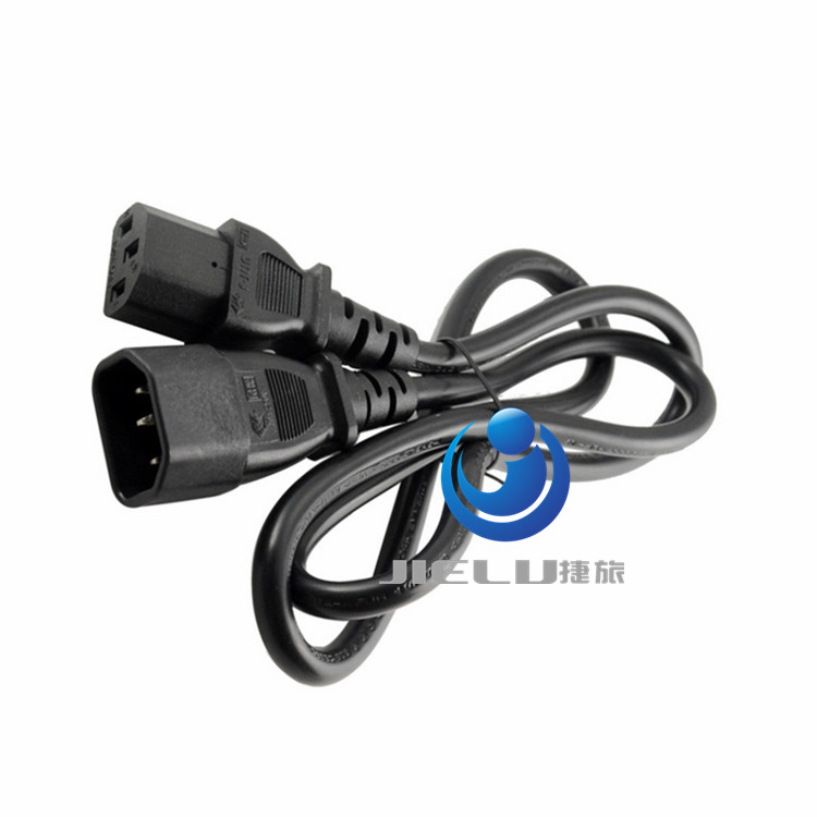 Wholesale 50pcs/lot Male To Female Power Cord Extension Cable 250 cm IEC 320 C14 To C13 50 50pcs lot kf2510 kf2510 3aw male