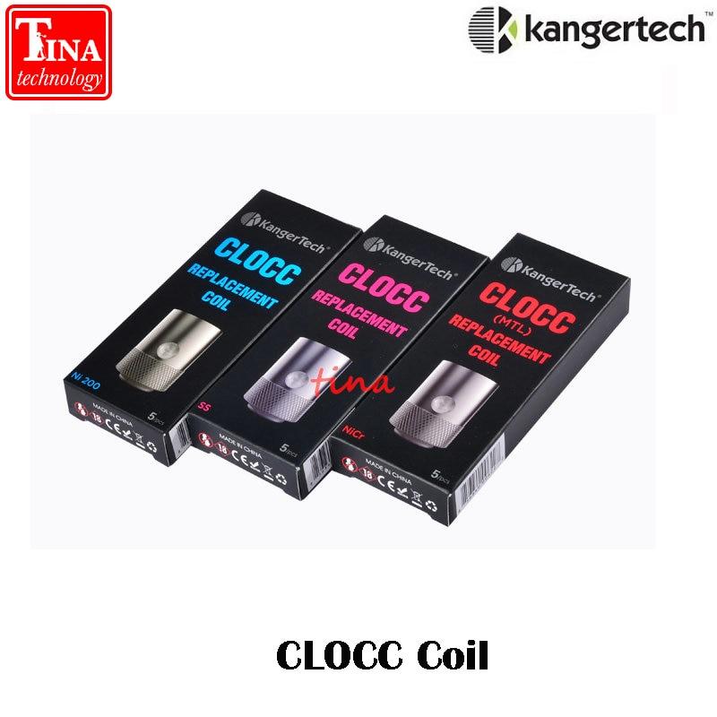 bilder für 100% Original Kangertech CLOCC Spule ohm SS316L 0.15ohm Ni200 1.0ohm Ersatzspulenkopf für für Cltank tank & Kanger Cupti