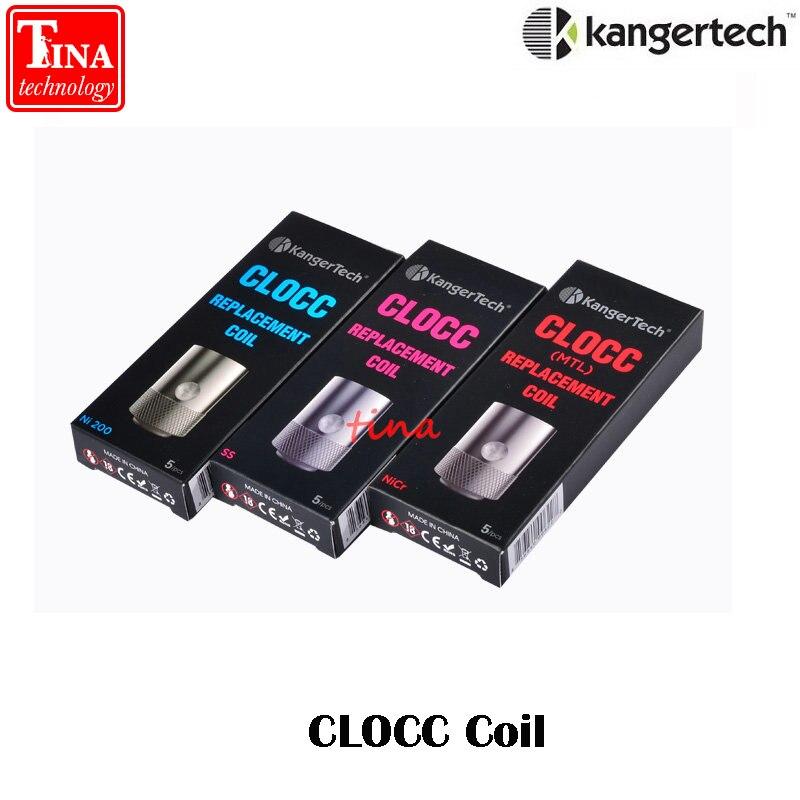 100% Originale Kangertech CLOCC Bobina 0.5ohm SS316L 0.15ohm Ni200 1.0ohm Sostituzione Bobina Testa per per Cltank tank & Kanger Cupti