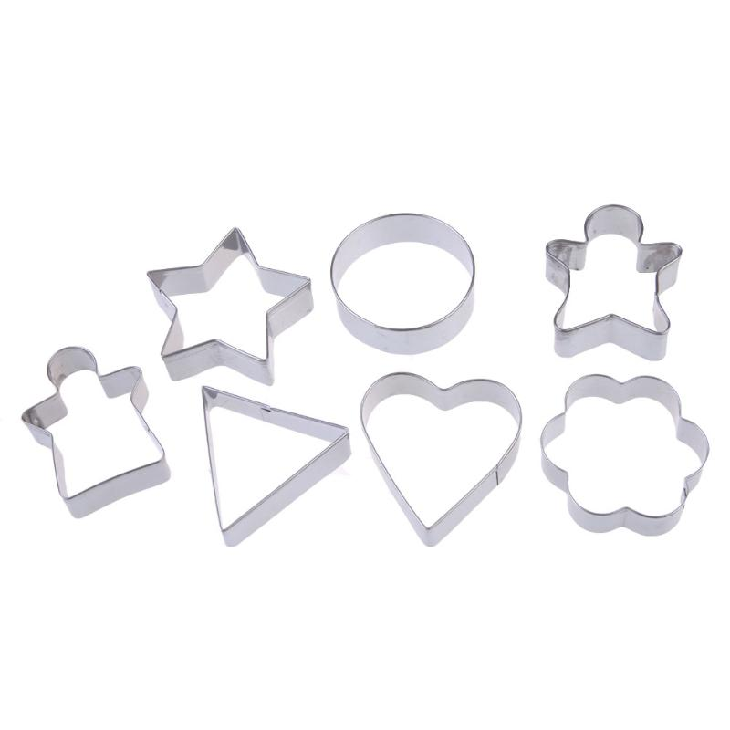 7 PCS Differ Geometric Figure Cake Biscuit Pastry Cookies Cutter Mold Mould