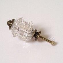 10 шт. уф-зонтик ясно акриловые алмаза кабинет ручка шкаф шкаф ящике комода потяните ручки кухня оборудование ручка ручка