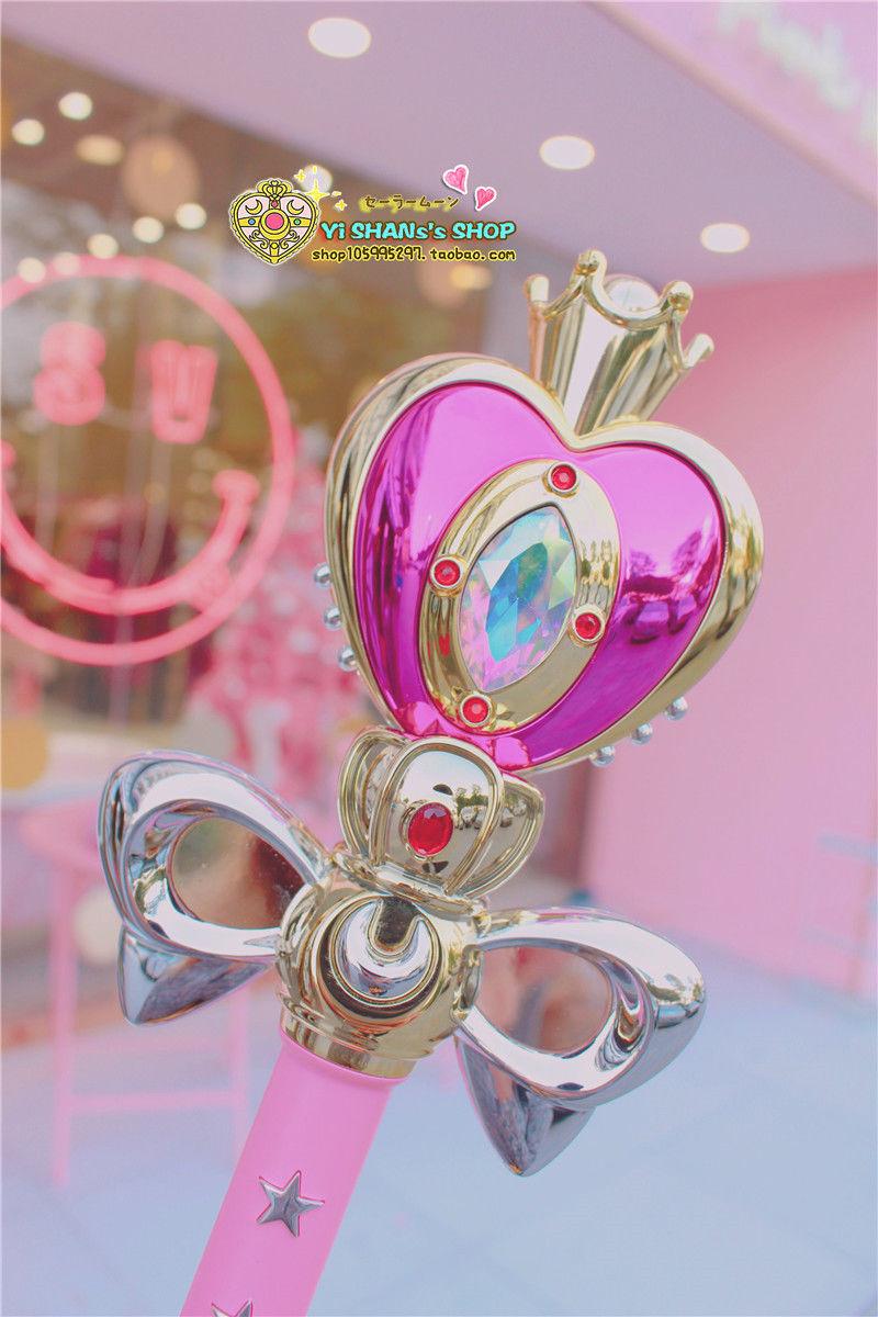 Anime Sailor Moon Women Cute Umbrella Magic Stick Long Handle Umbrella Rain Hot
