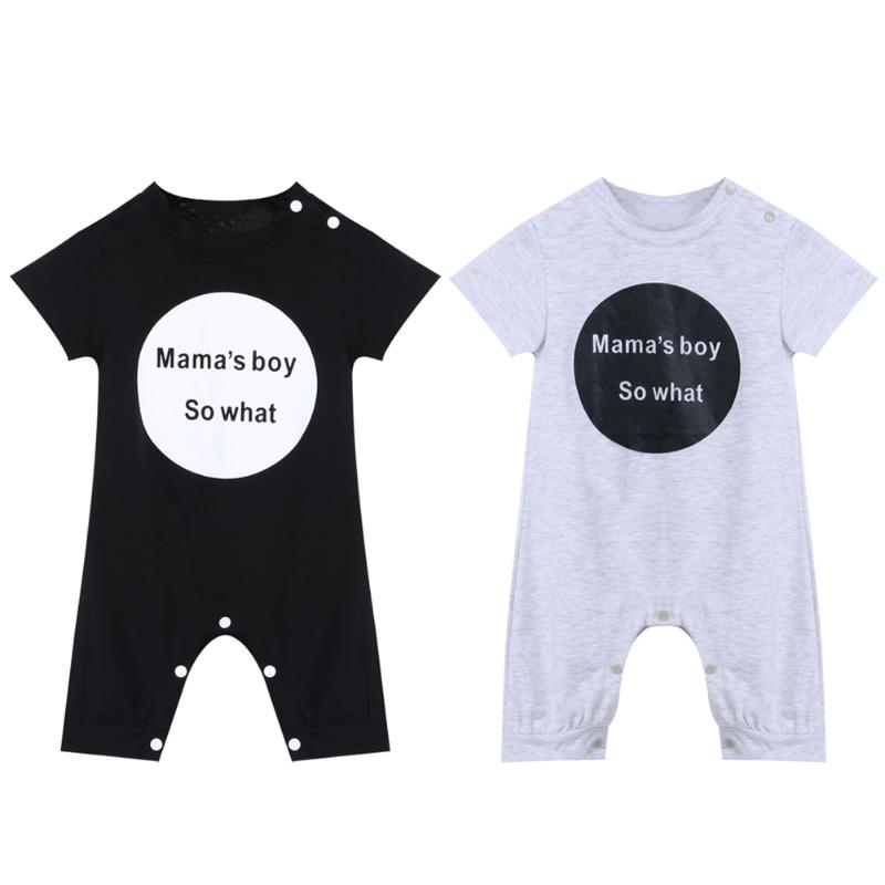 Newborn Baby Rompers Summer Spring Baby Boy Girl Clothes Short Sleeve Letters Baby Clothing Set Jumpsuits cotton baby rompers set newborn clothes baby clothing boys girls cartoon jumpsuits long sleeve overalls coveralls autumn winter