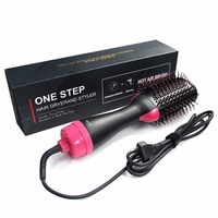 Electric Professional Hair Dryer Comb Infrared Negative Ion Hot Air Comb Straight Curling Hair Comb Hairdryer