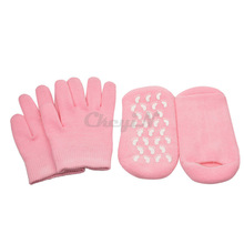 2pairs/lot Reusable SPA Gel Socks & Gloves Moisturizing Whitening Exfoliating Velvet Smooth Beauty Hand Foot Care Silicone Socks