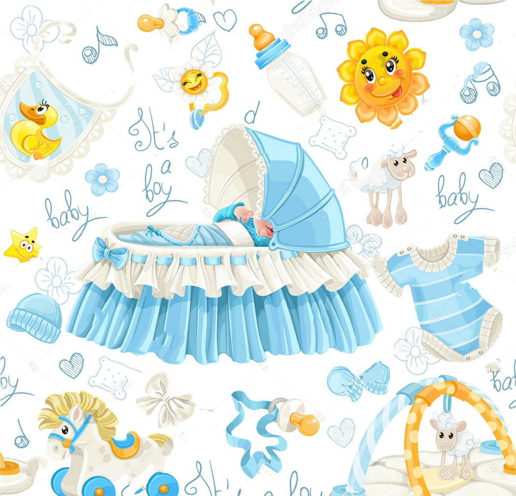 carousel baby cribs stuff baby shower background Vinyl cloth High quality Computer print party photo backdrop