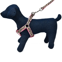 Super Hot Pet Harness Set Collar Leash Dog Cat Control Leash Adjustable Suitable Walking Training Outside