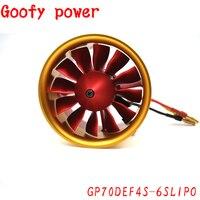 QX MOTOR металлический каналов 12 лопасти Канальные вентилятор EDF 4 S 6 S Lipo Зарядное устройство 2150KV CW КНО мощный электрический мотор для самолета