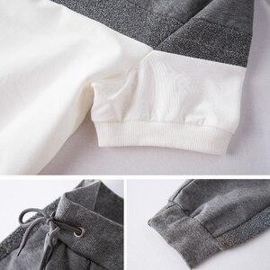 Image 5 - ToLugui Summer Womens Set Short Sleeve Sports Suit Patchwork O Neck t Shirt+Pant 2 Piece Set Tracksuit For Women Sweat Suit