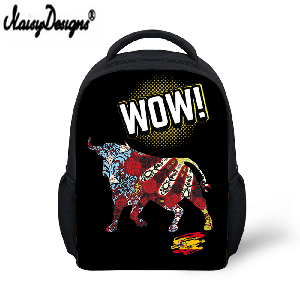Custom School Bag for Kids Boys Girls Backpack 3D Bull Printing Backpack Mini Schoolbag School Supplies Satchel Casual Book Bag Рюкзак