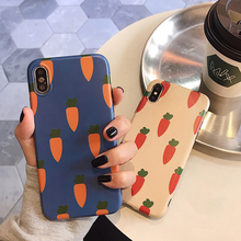 VZD cute carrot for iphone xs phone case 8plus x/xs max/xr silicone iphone7p/i6s
