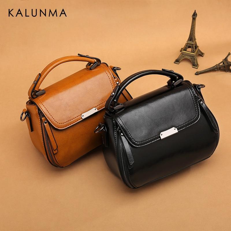 dbfb1fc6f839 KaLunMa Bag female 2018 new factory direct fashion casual oil wax ...