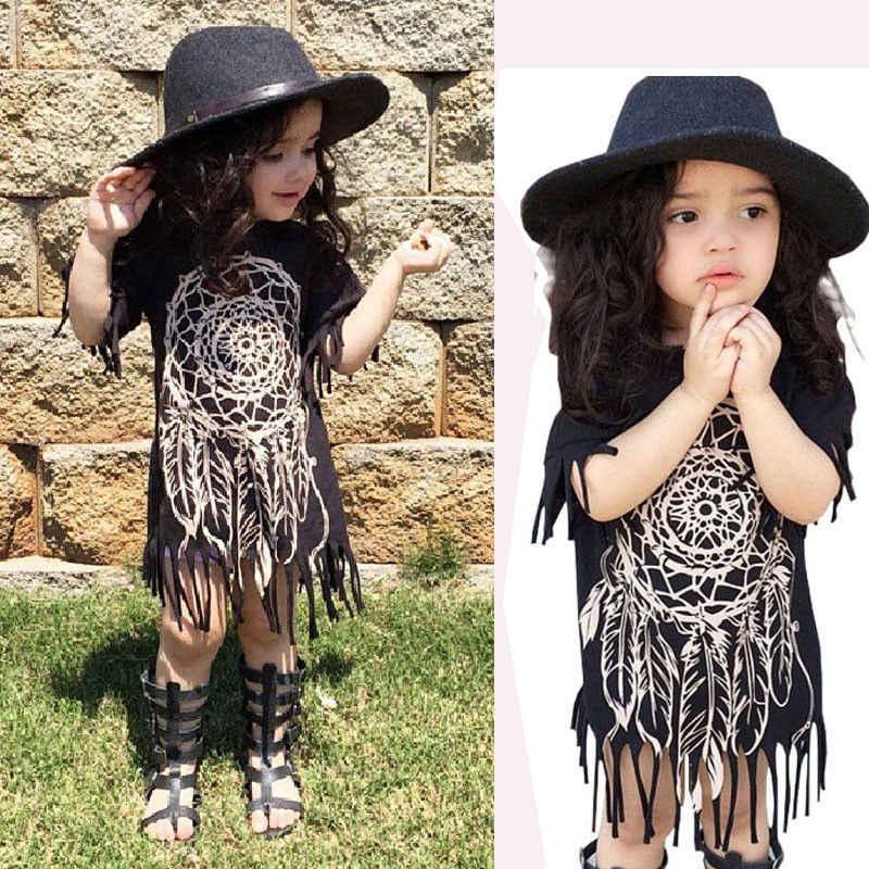 Dresses New Boho Baby Kids Children Girl Summer Clothing Sleeve ...