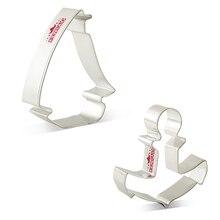KENIAO Sailboat Dolphin Anchor набор резаков для печенья-2 шт.-печенье/помадка/кондитерские изделия/Хлеборезка-нержавеющая сталь