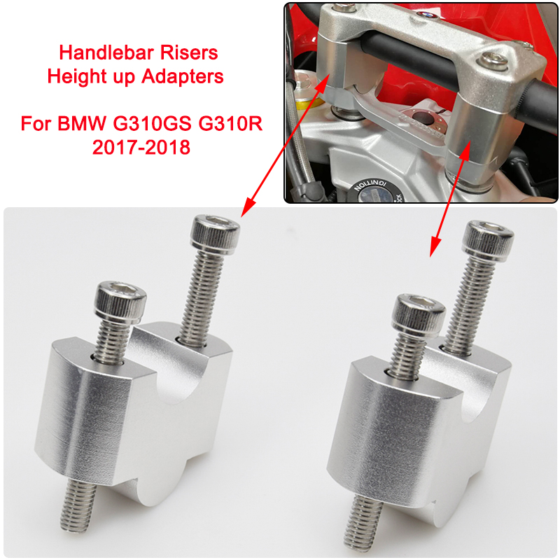 CNC Motorcycle Modified Handlebar Handle bar Risers 30MM Height up Adapters for BMW G310GS G310R 2017 2018 gw250 modified standard ordinary version of motorcycle modified split handlebar plus height code increase the code