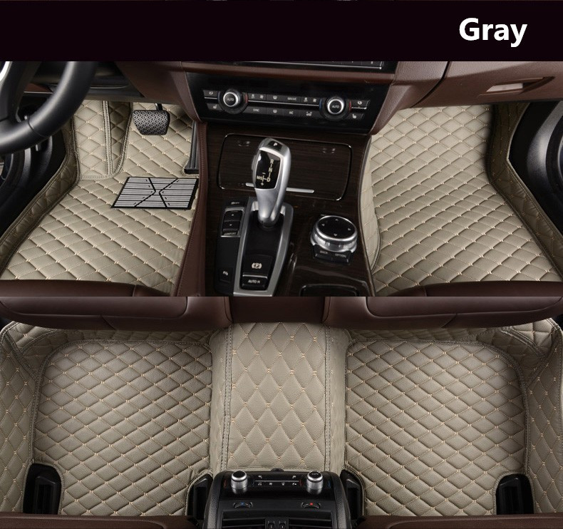 For Hyundai Grandeur Azera 2011-2018 Floor Mats Auto Foot Carpets Car Step Mats High Quality Brand New Embroidery Leather Mats