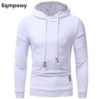 Eqmpowy 2018 Fashion Plaid Hoodies Men Sweatshirts Hoodie Sportswear Spring Summer Slim Solid Casual Men S