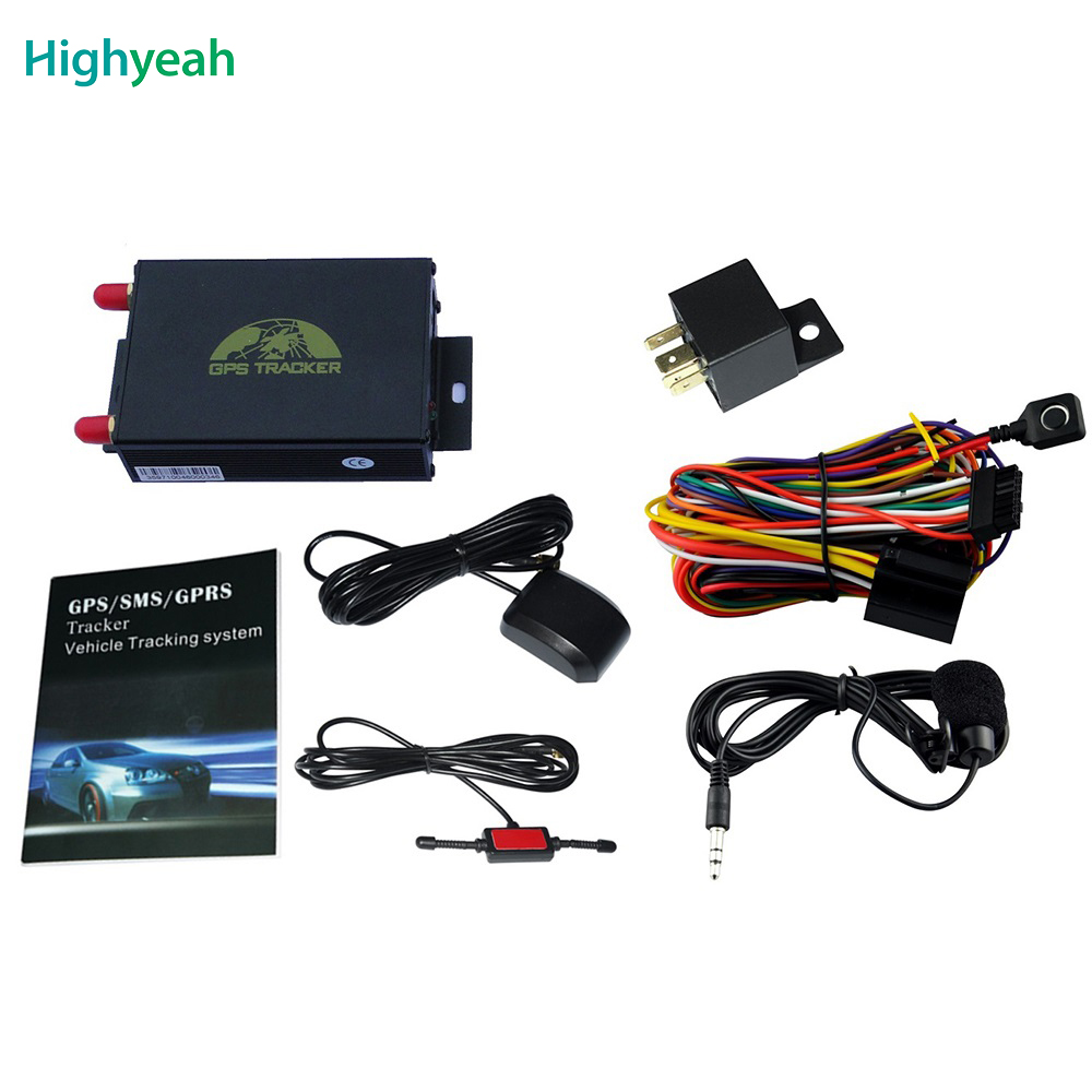 Coban GPS105A TK105A alarme voiture gsm LBS GPRS SMS suivi GPS satellites voiture GPS Tracker surveillance de la batterie